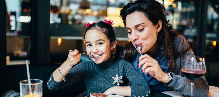 comer con niños madrid